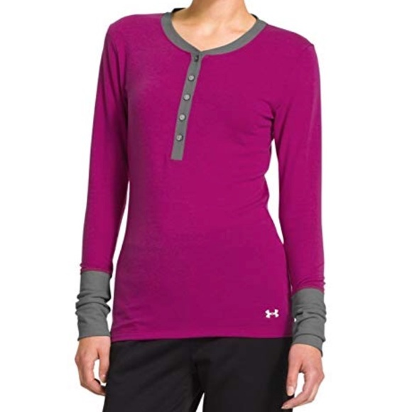 c6707a44d Under Armour Coldgear Infrared Pink Henley. M 5be1db8503087c9e8ae6b720